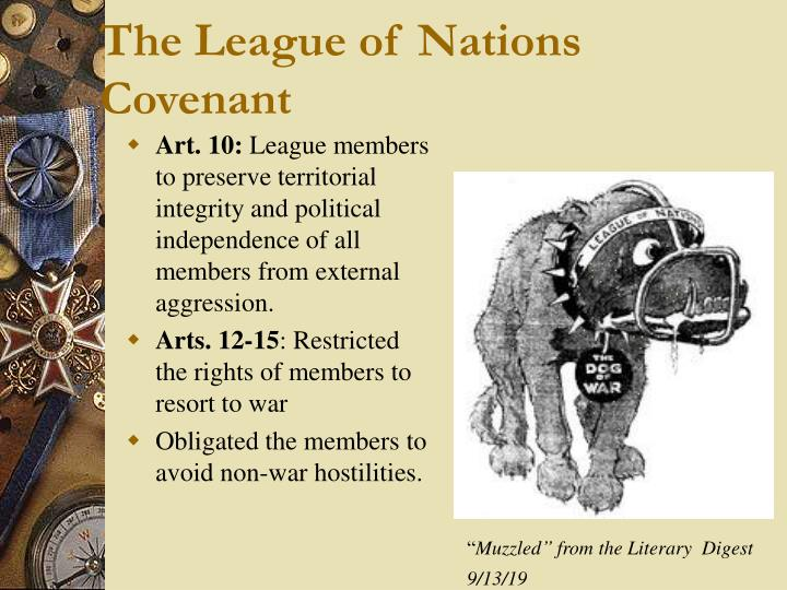 The League of Nations Covenant