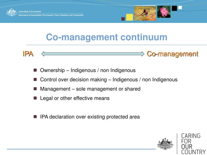 Co-management continuum