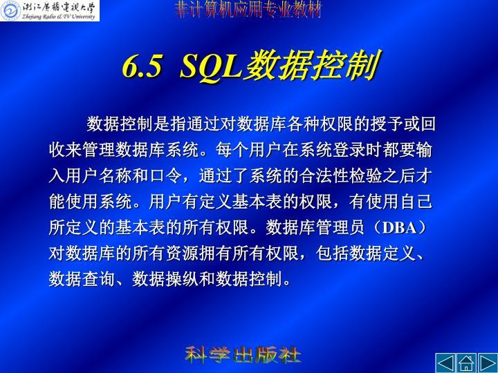 6.5  SQL