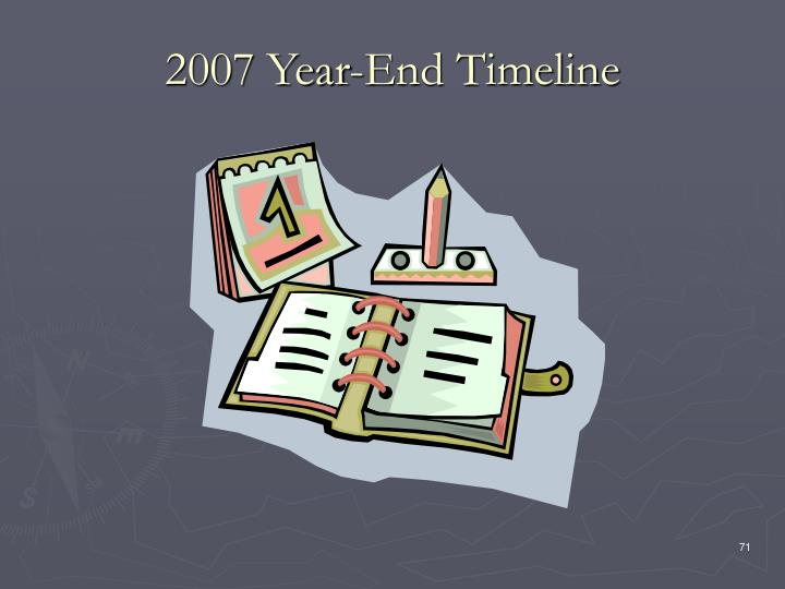 2007 Year-End Timeline