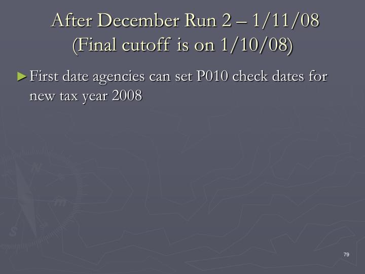 After December Run 2 – 1/11/08