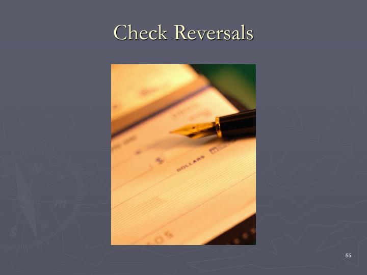 Check Reversals