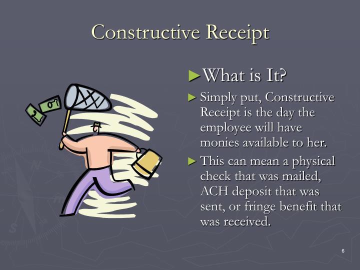 Constructive Receipt