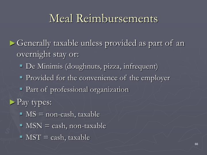 Meal Reimbursements