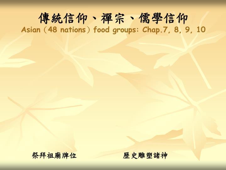 傳統信仰、禪宗、儒學信仰