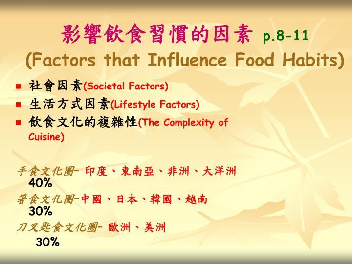 影響飲食習慣的因素