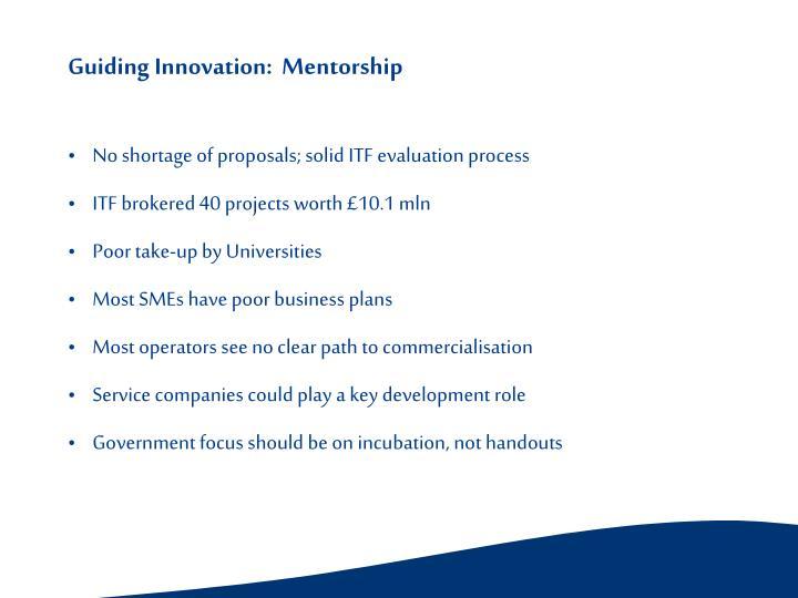 Guiding Innovation:  Mentorship