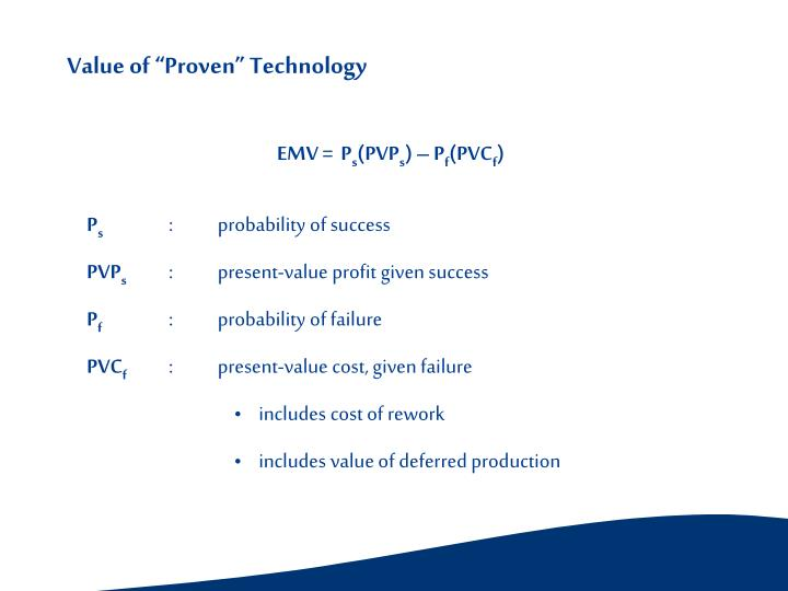 "Value of ""Proven"" Technology"