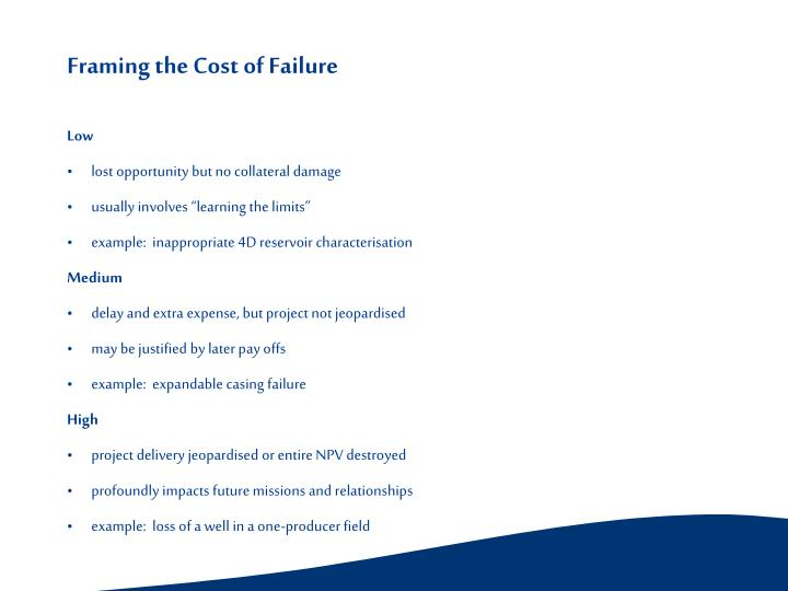 Framing the Cost of Failure