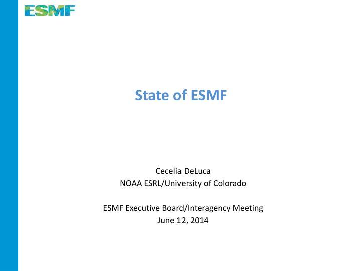 State of ESMF