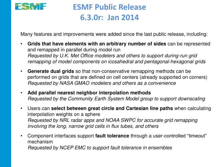ESMF Public Release