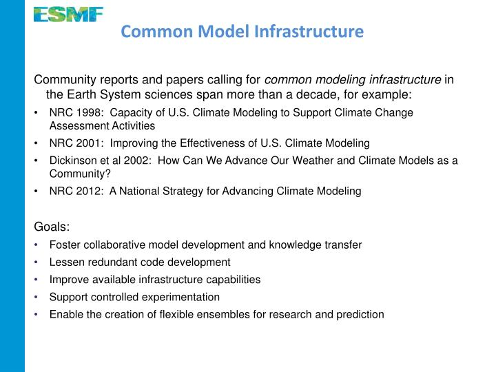 Common Model Infrastructure