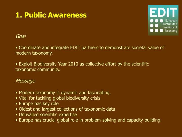 1. Public Awareness