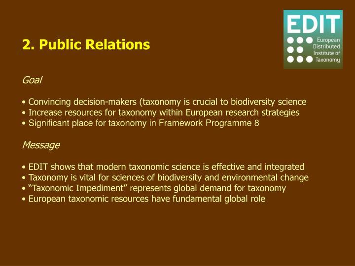 2. Public Relations