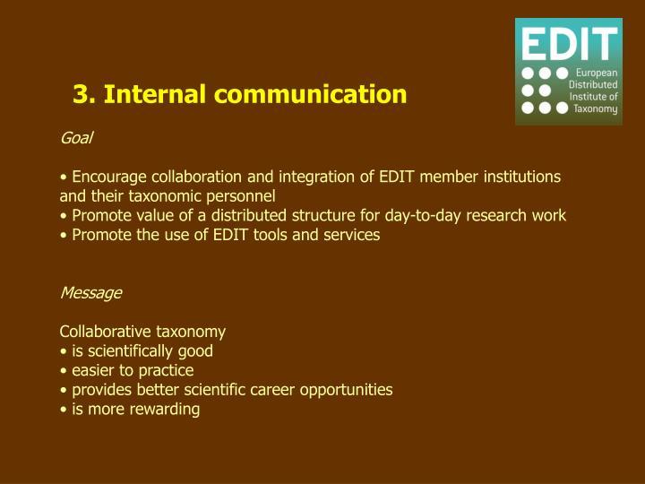 3. Internal communication
