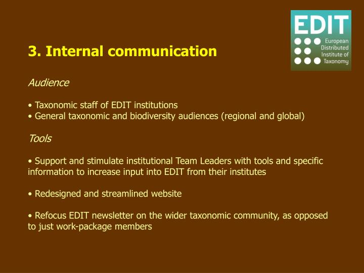 3. Internal communication