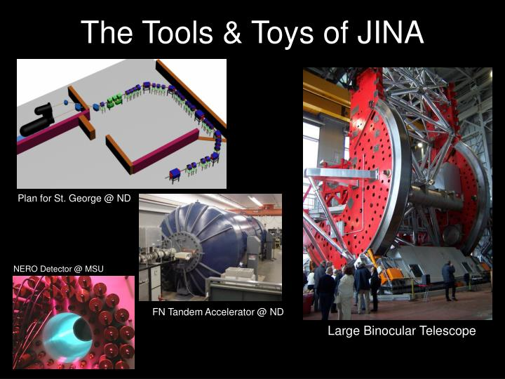 The Tools & Toys of JINA