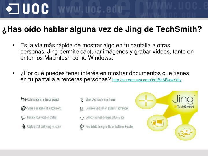 ¿Has oído hablar alguna vez de Jing de TechSmith?