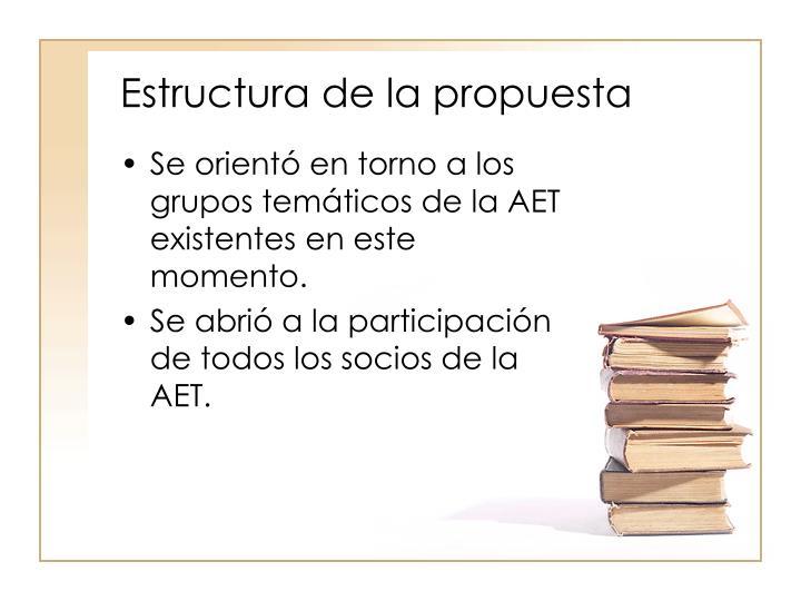 Estructura de la propuesta