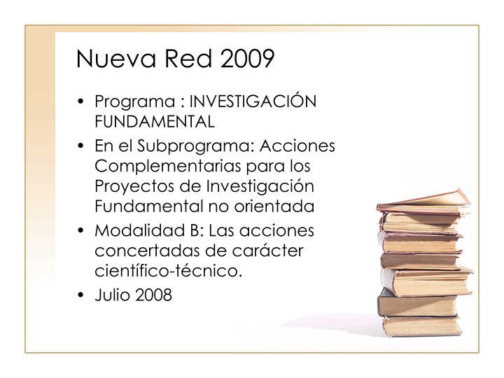 Nueva Red 2009
