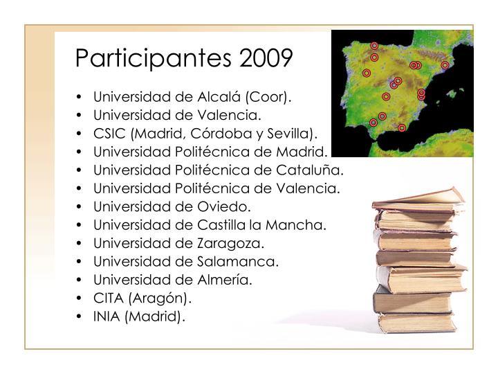 Participantes 2009