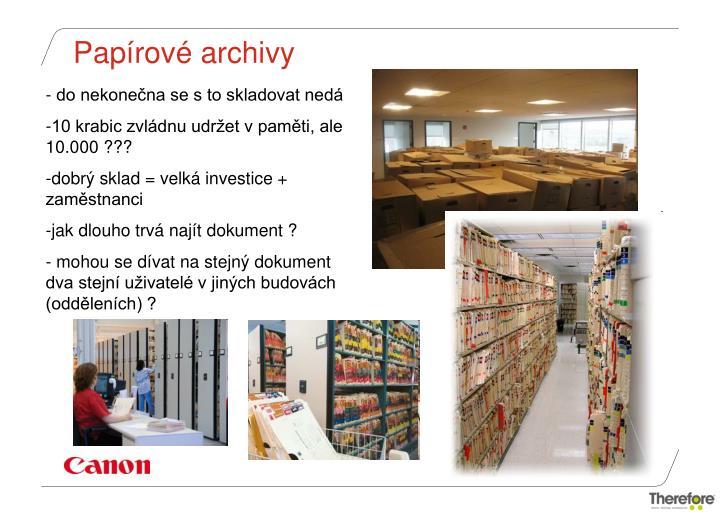 Papírové archivy