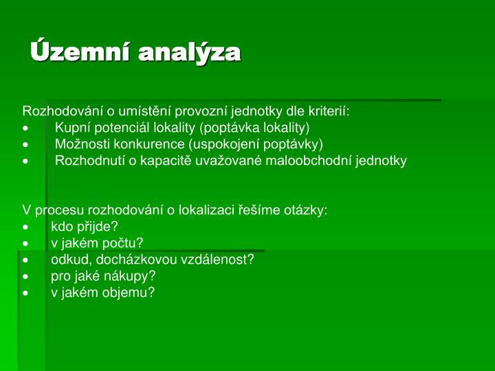 Územní analýza