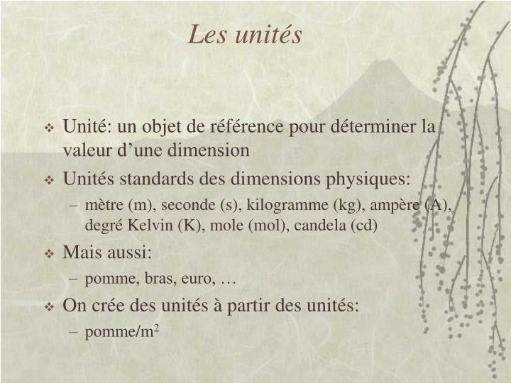 Les unités