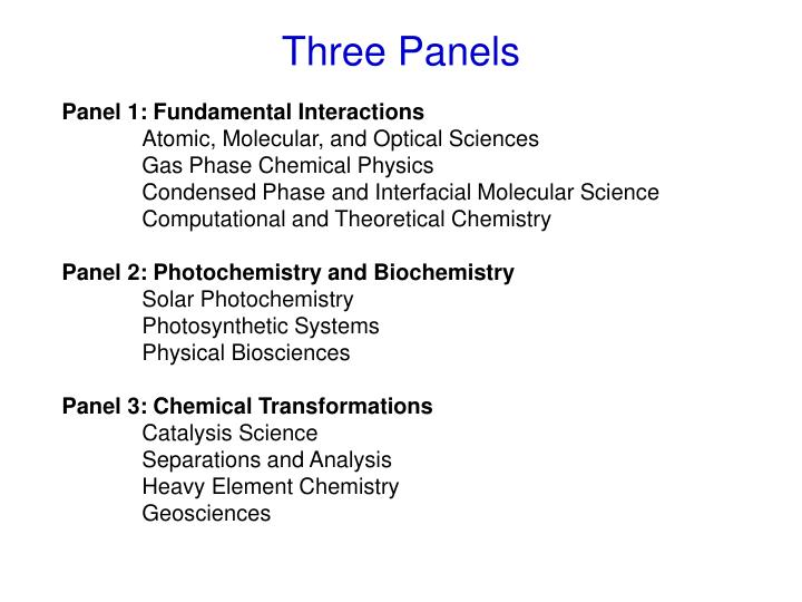 Panel 1: Fundamental Interactions