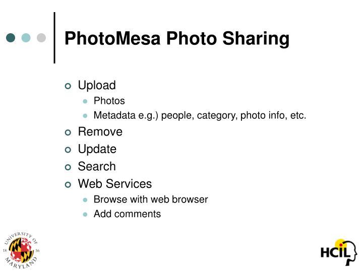 PhotoMesa Photo Sharing