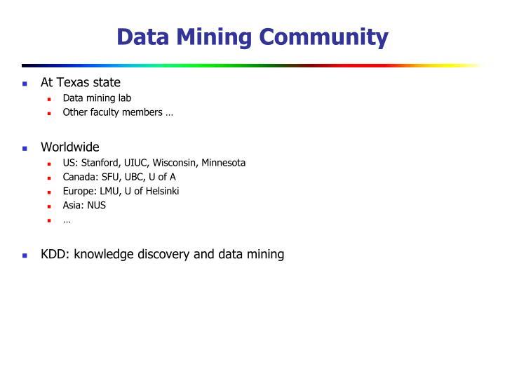 Data Mining Community
