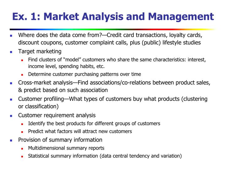 Ex. 1: Market Analysis and Management