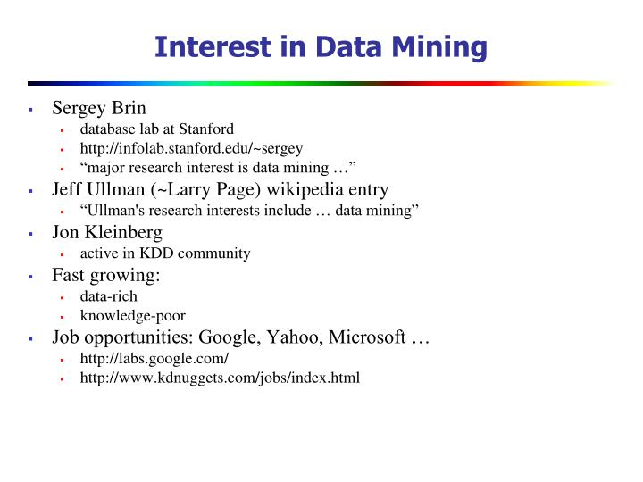 Interest in Data Mining