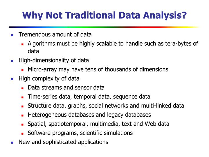 Why Not Traditional Data Analysis?