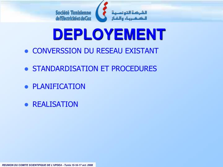 CONVERSSION DU RESEAU EXISTANT