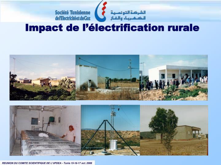 Impact de l'électrification rurale