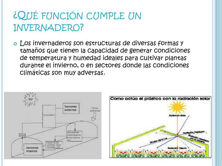 ¿Qué función cumple un invernadero?