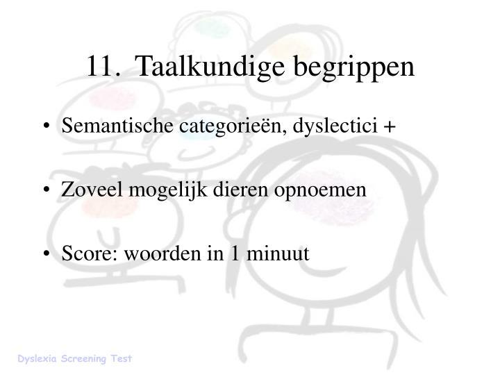 11.Taalkundige begrippen