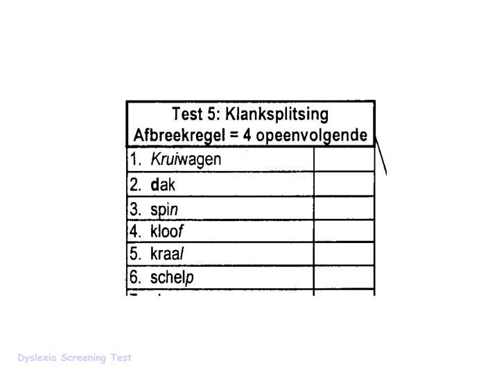Dyslexia Screening Test