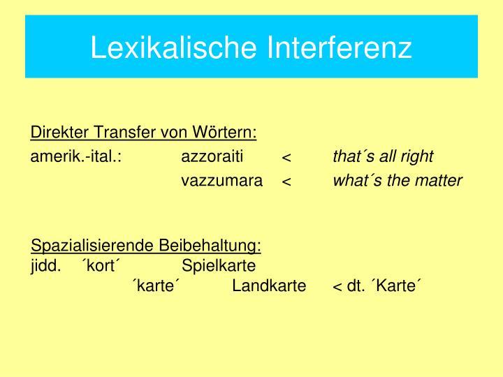 Lexikalische Interferenz
