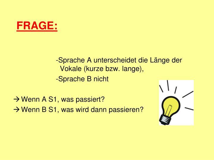 FRAGE: