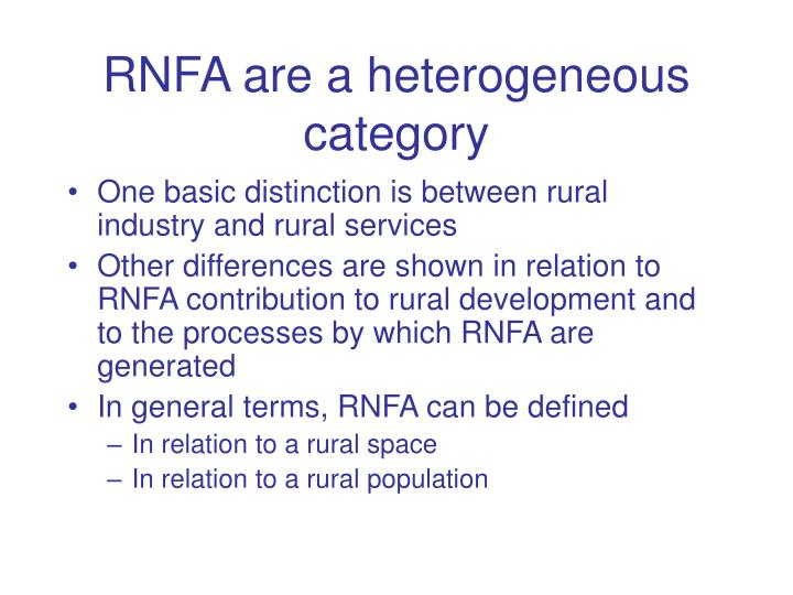 RNFA are a heterogeneous category