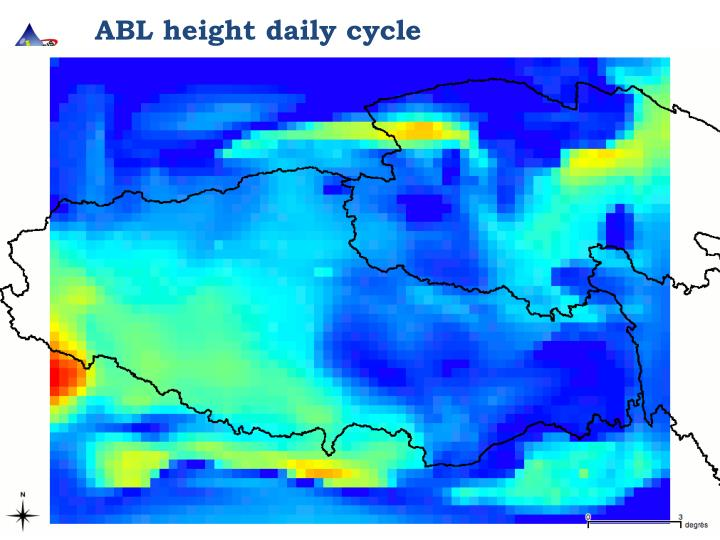ABL height daily cycle