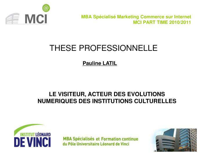 Mba sp cialis marketing commerce sur internet mci part time 2010 2011