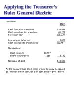 applying the treasurer s rule general electric