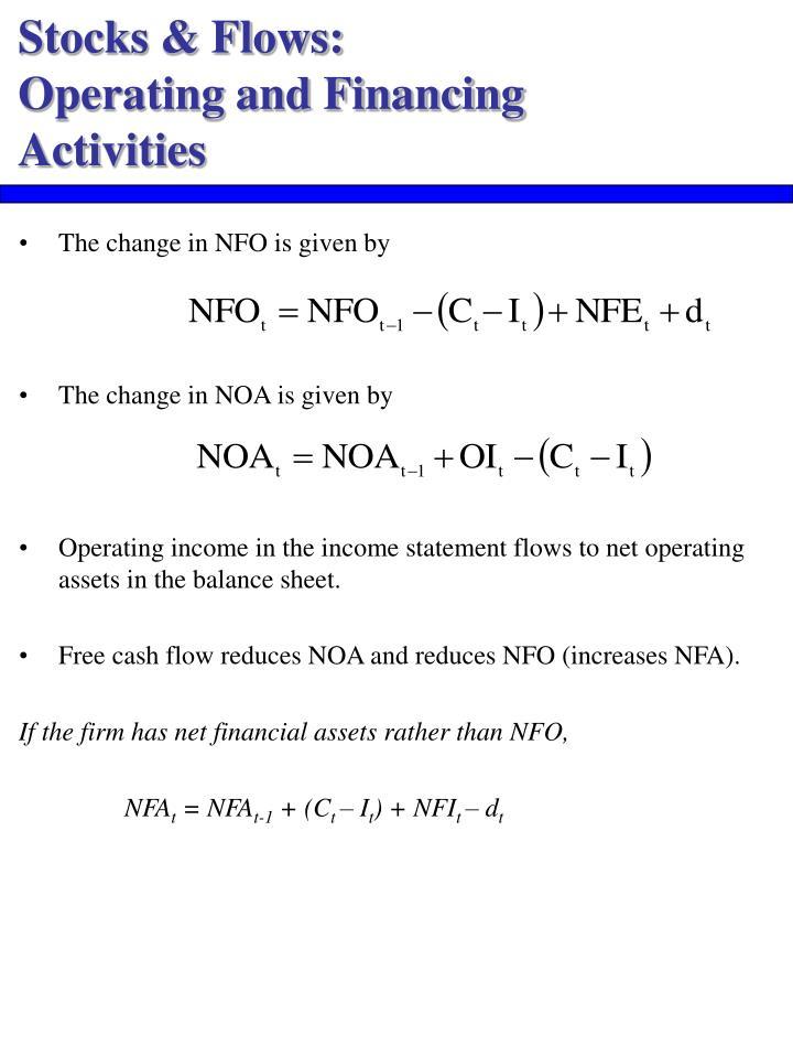 Stocks & Flows: