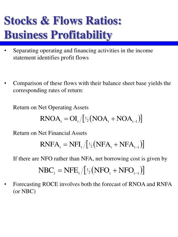 Stocks & Flows Ratios: