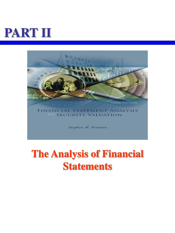The analysis of financial statements