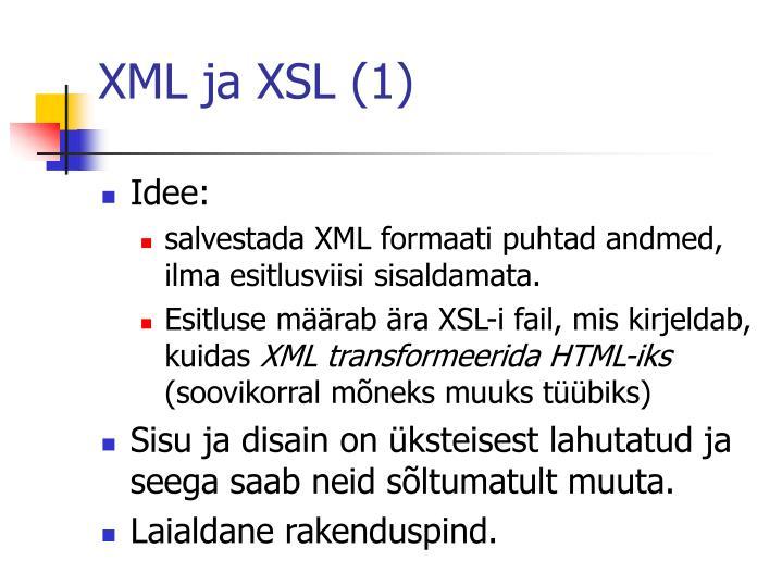XML ja XSL (1)