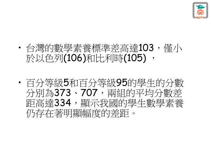 台灣的數學素養標準差高達
